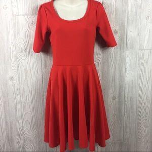 LulaRoe Nicole Dress Red Size S
